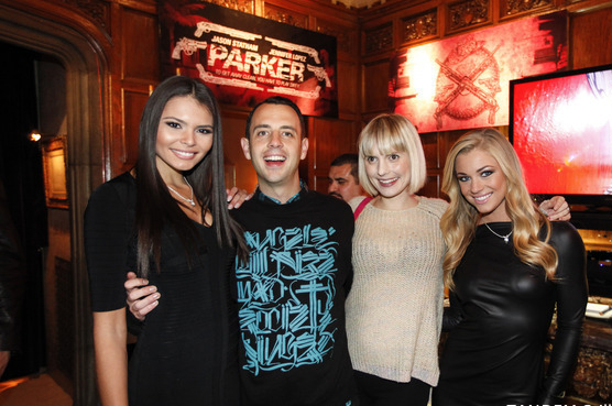 Parker movie screening at the Playboy Mansion