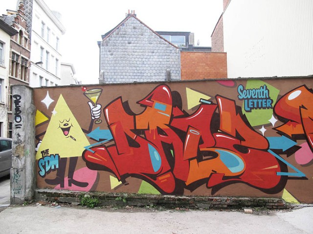 Belgium shapes wall 3