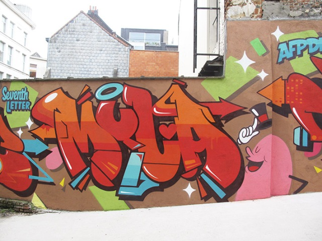 Belgium shapes wall 4