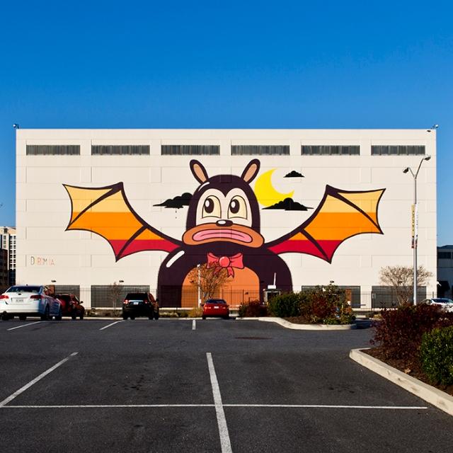 DC bat wall